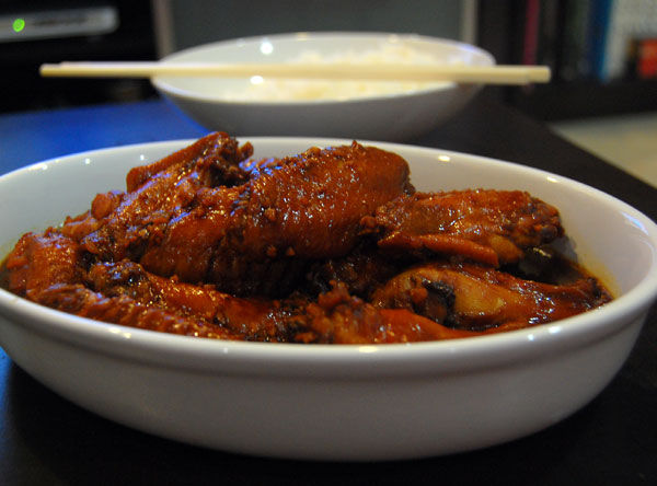 Dark Soya Sauce Braised Chicken Wings