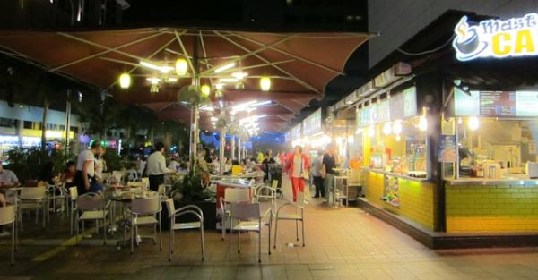 Outdoor eating place at Orchard, Singapore