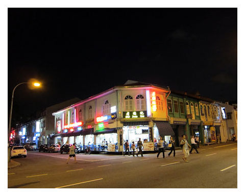 Night time at Little India, Singapore