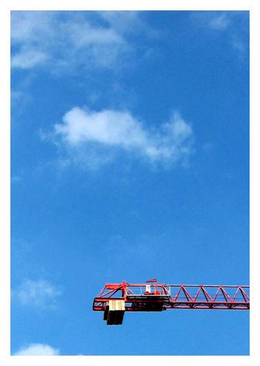 Cranes and the blue sky, Singapore