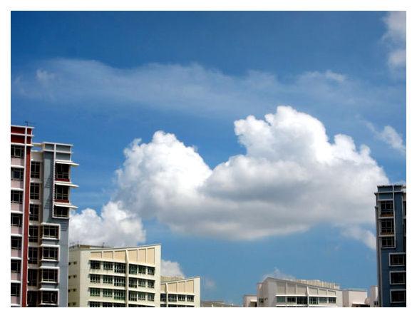 Clouds over Sengkang, Singapore
