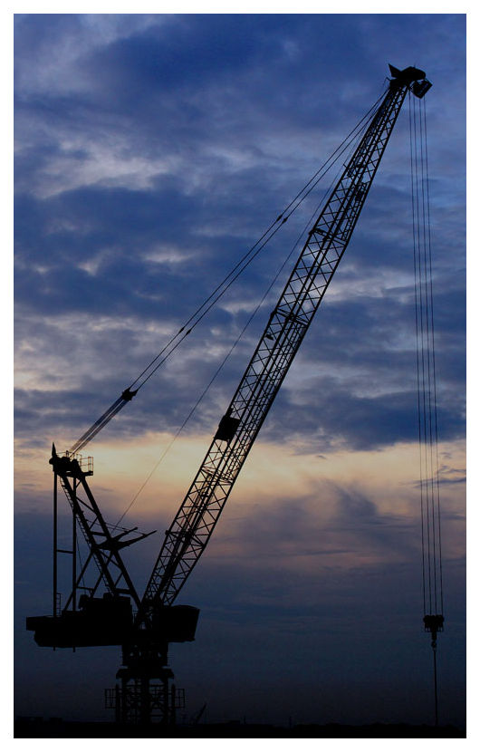 Crane Silhouette in Serangoon, Singapore