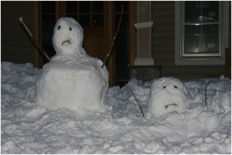My snowmen have given up.  Please stop the snow