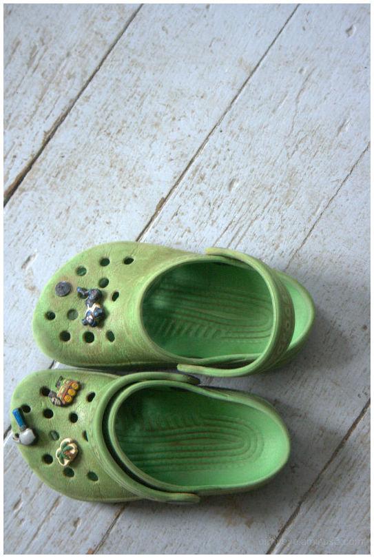 crocs on the floor