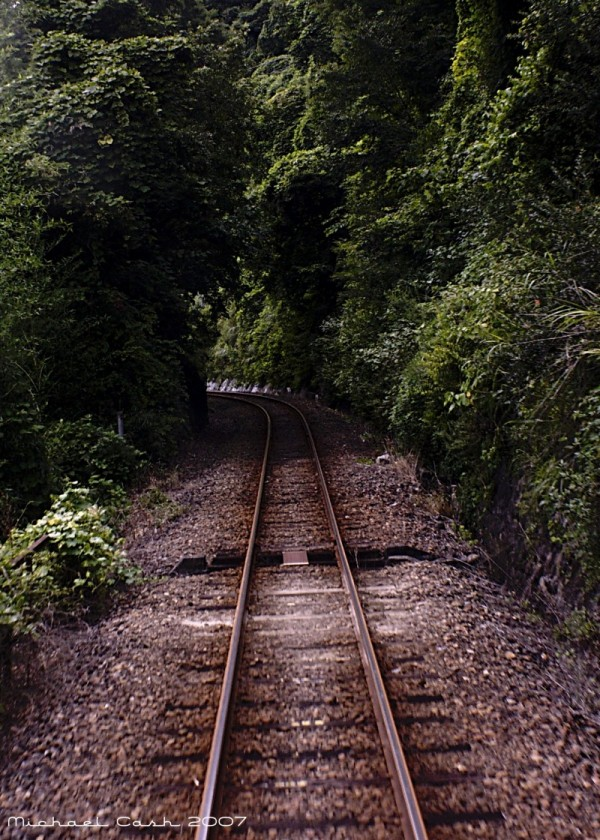 Tracks of Japan's Watarase Valley Line