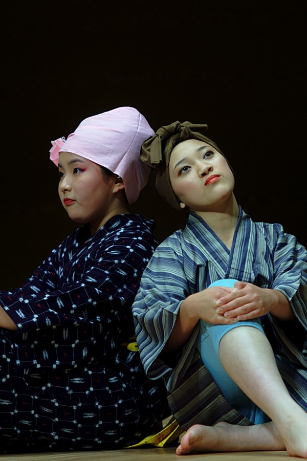 Traditional Japanese dancers