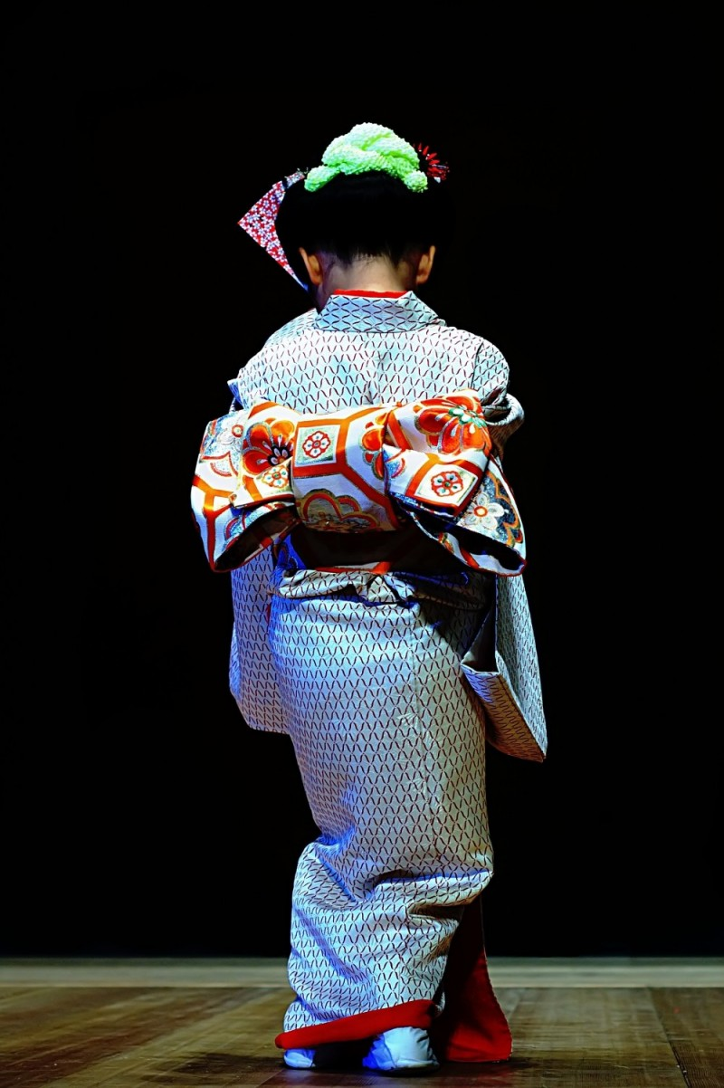 Traditional Japanese dancer