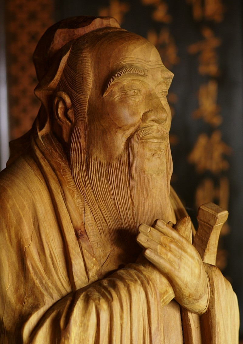 Wooden Statue of Confucius