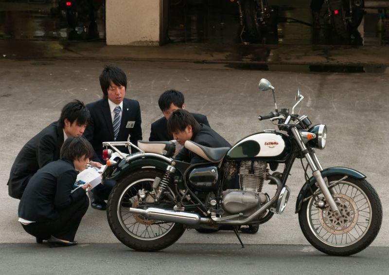 A Well Dressed Biker Gang Documentary Street Photos Japan