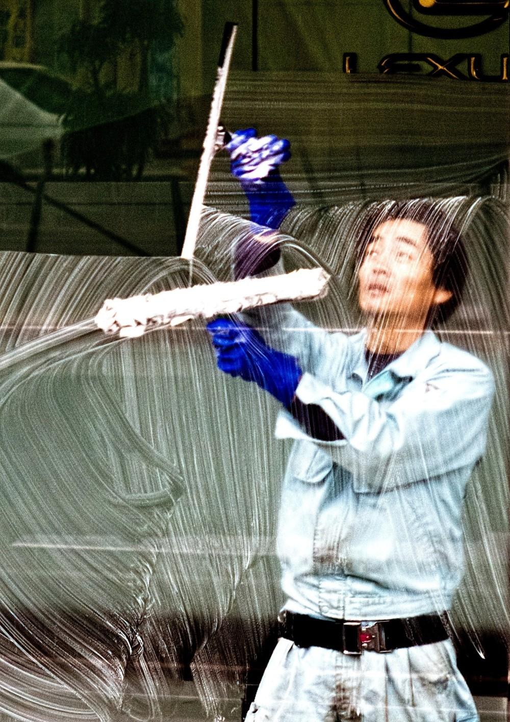 窓拭きの達人