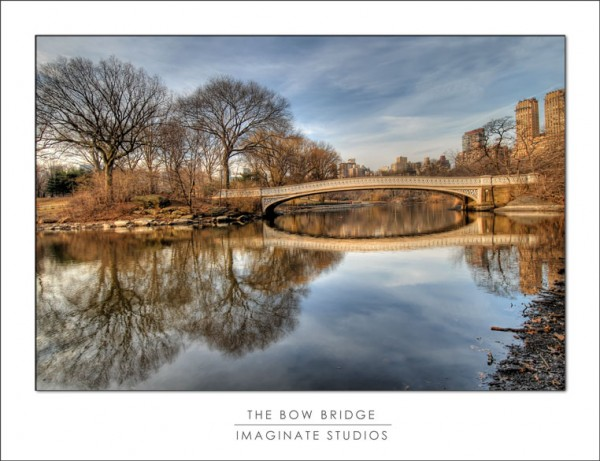 The famous Bow Bridge at Central Park, NY NY