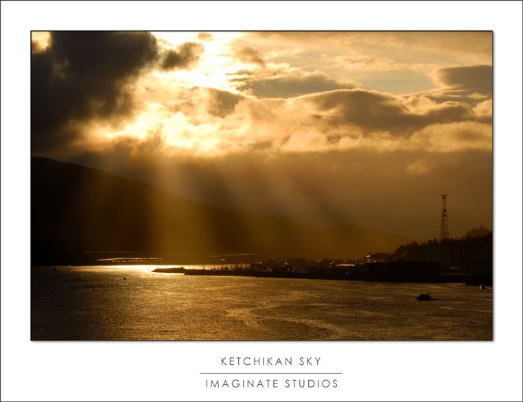 the light in ketchikan is just right at sunset