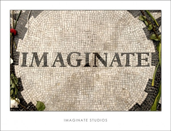 An altered version of the Imagine memorial