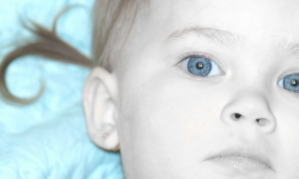 baby blue eyes.