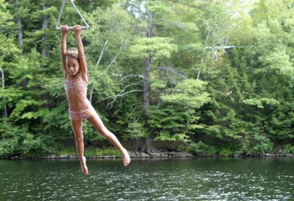 rope swing fun.