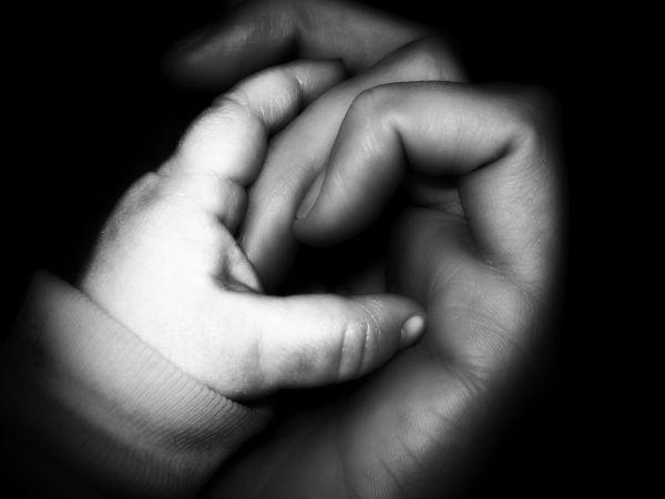baby girl grasp