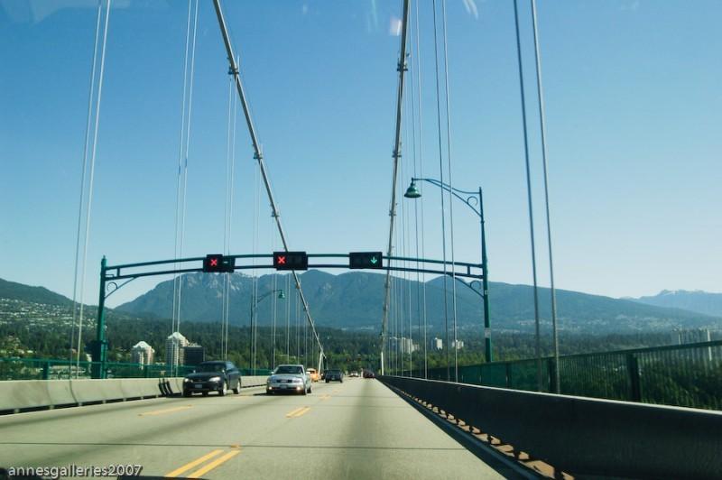 Atop Lions Gate Bridge