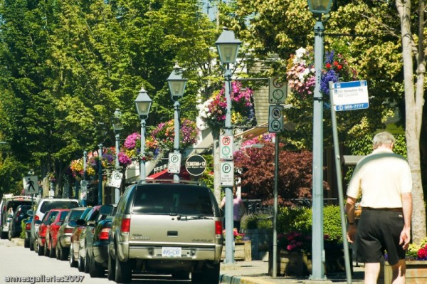 Driving Down The Main Street In West Vancouver
