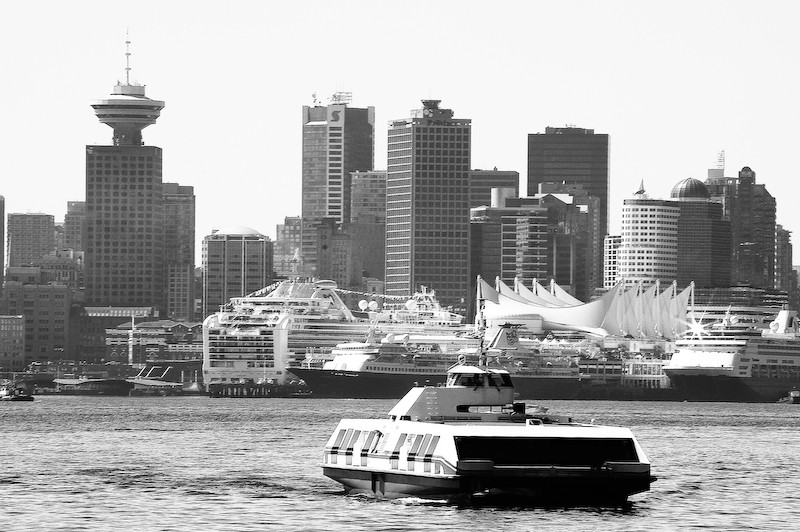 Busy Port of Vancouver