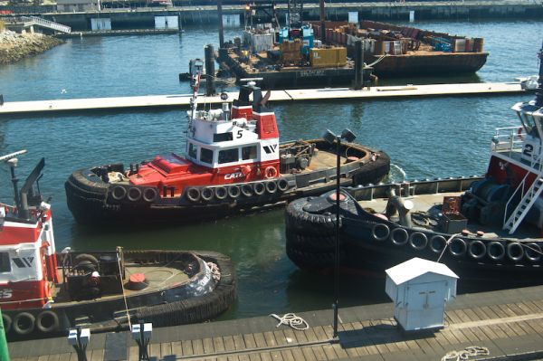 Tugboat in Lonsdale Quay