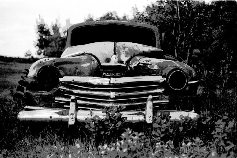 B&W Car