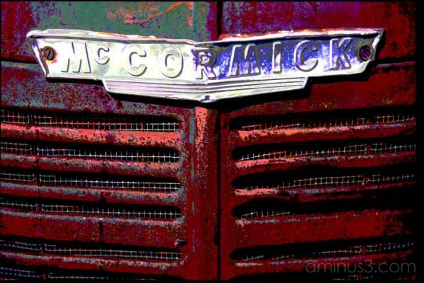 funky McCormick antique old truck