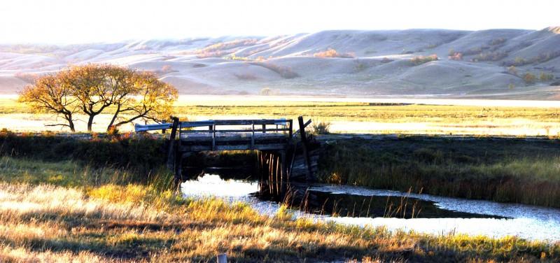 Valley saskatchewan landscape