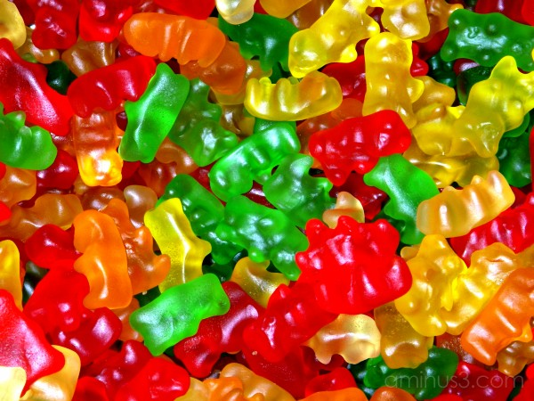 candy gummies-bears color