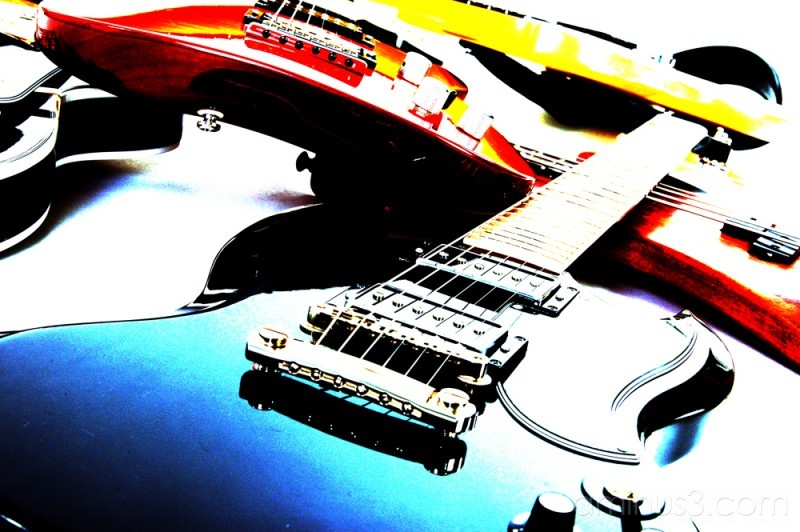 "funky guitars abstact  ""high key"""