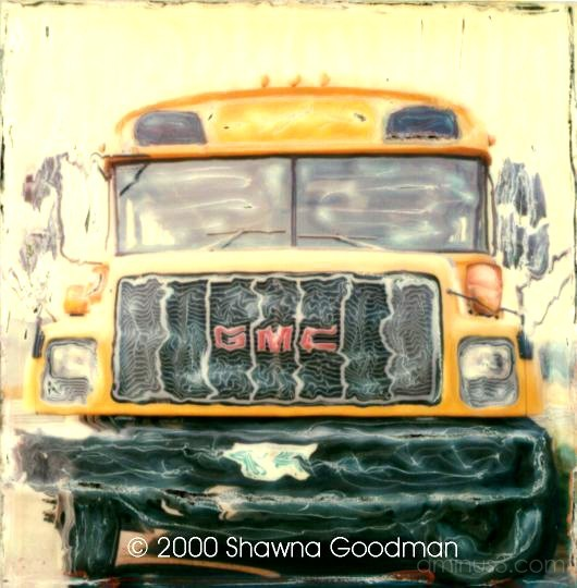 """school bus"" school bus SX-70 funky"