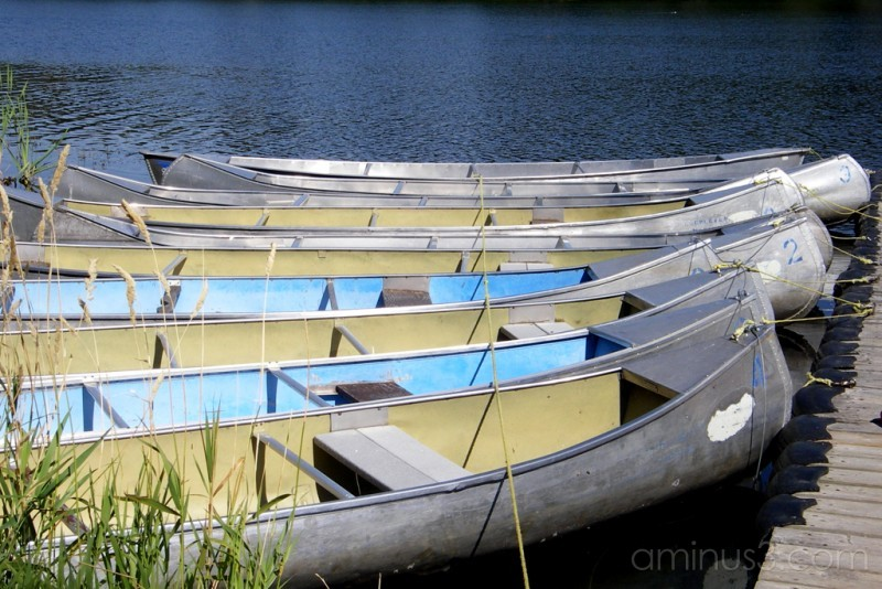 canoes water lake
