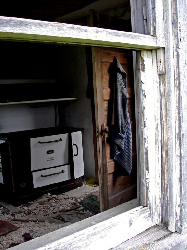 landscape rural Saskatchewan abandoned window