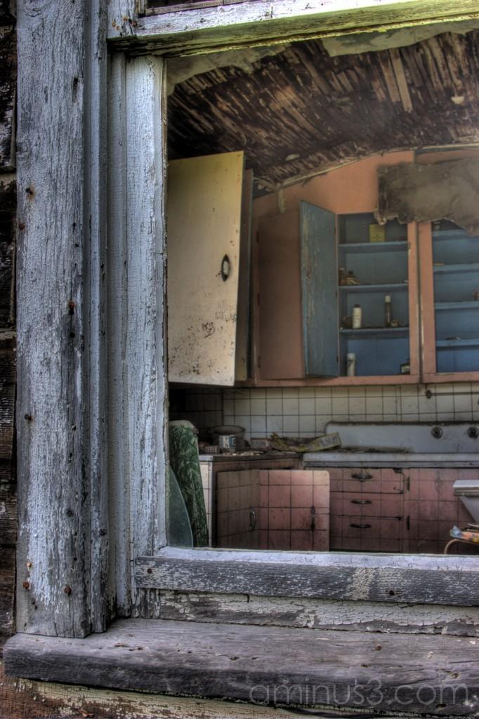 Window, abandoned house Saskatchewan