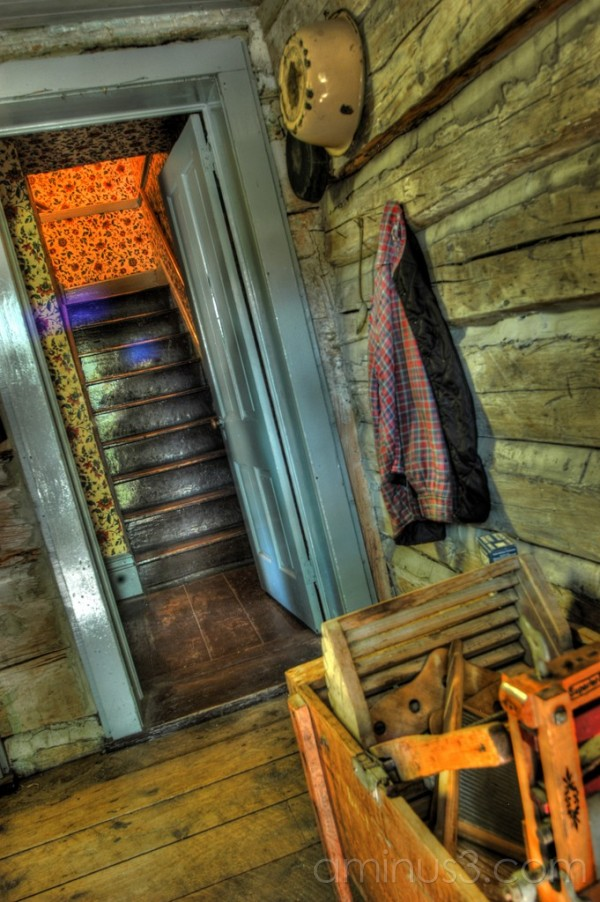 High Dynamic Range, HDR, Village, Stairs