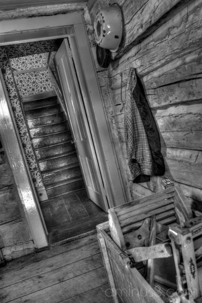 High Dynamic Range, HDR, Village, Stairs