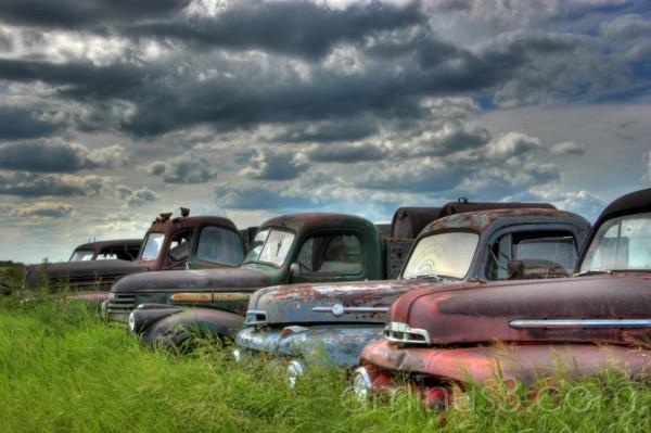 HDR, abandoned,Truck, Saskatchewan