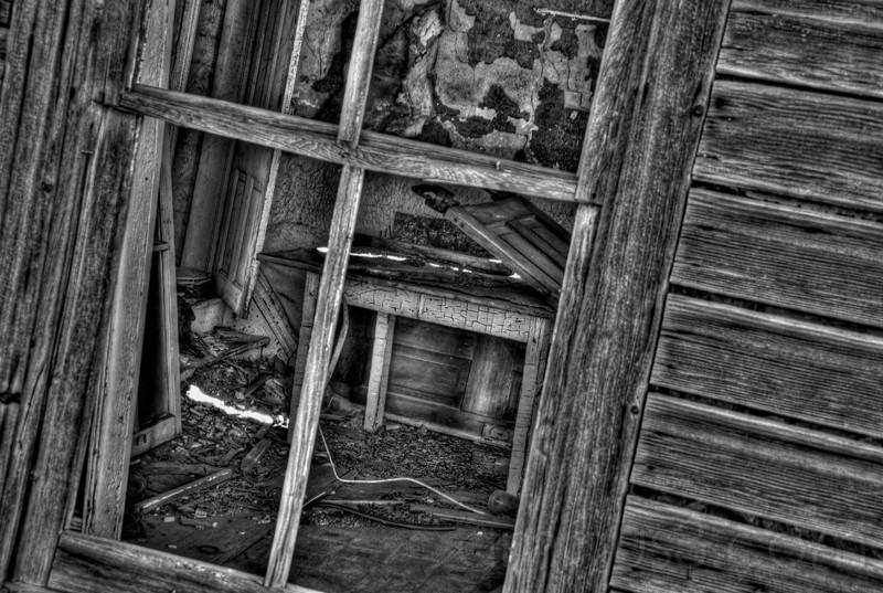 HDR, Abandoned, house, Saskatchewan,BW