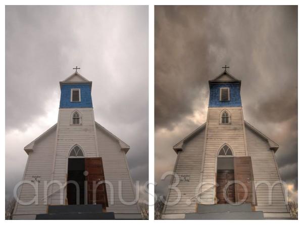 HDR, church, Saskatchewan