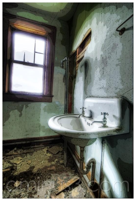 HDR+, Abandoned, Saskatchewan,Sink