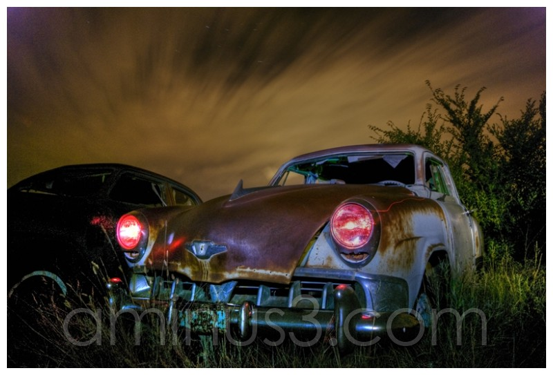 "Sukanen ""Rust"" at night, a car this time"