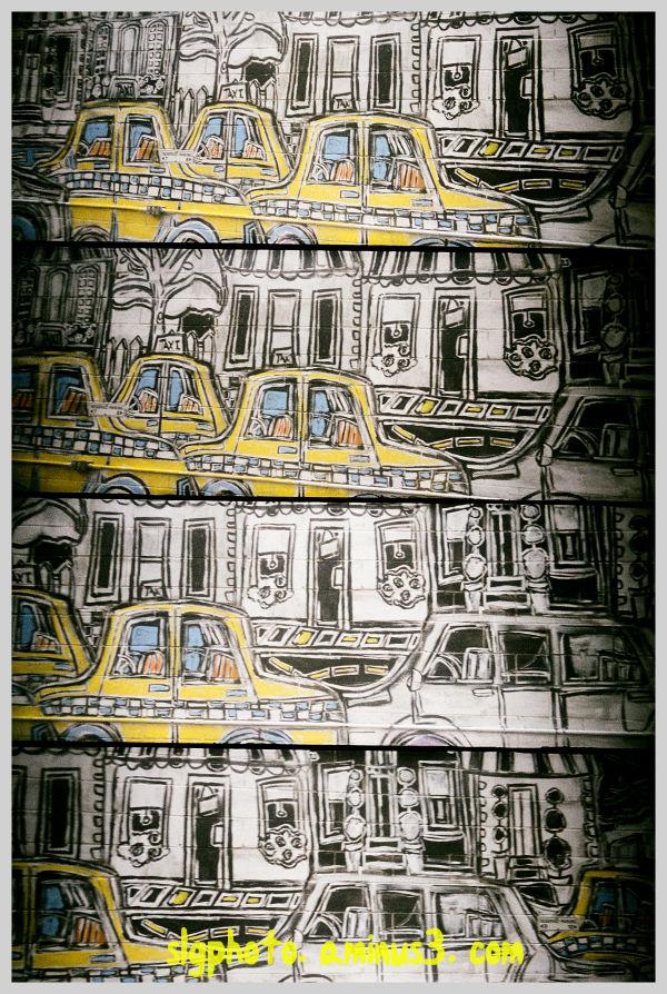 Mural, taxis Regina Saskatchewan Canada