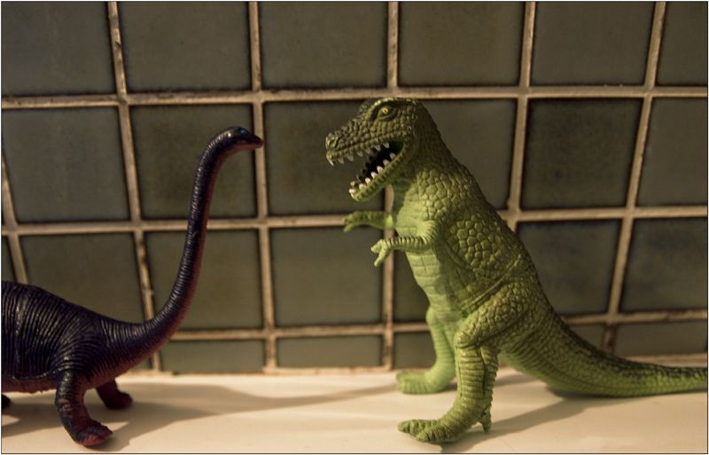 Ragotor et son ami le brontosaure...