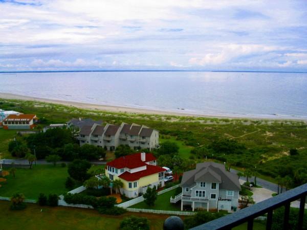 Top of Tybee Island GA Lighthouse