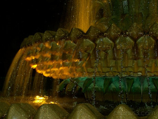Pineapple Fountain Closeup