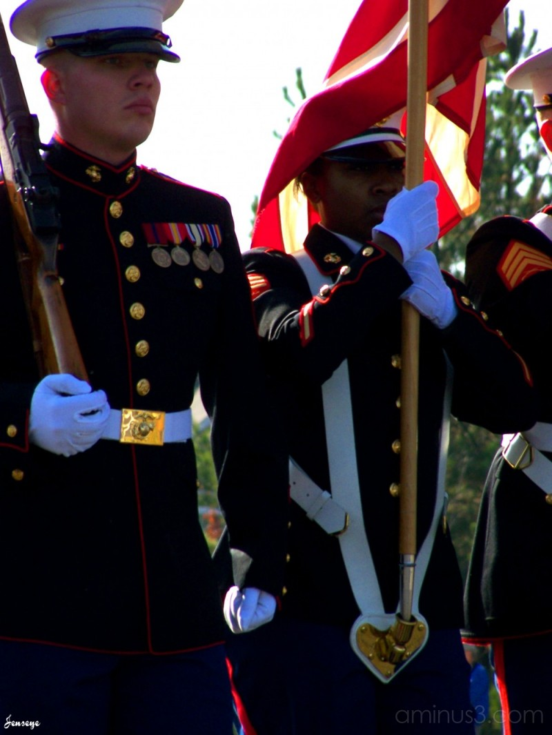 Founders Days parade Marines