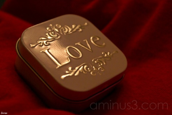 Love Tin Red Valentines Day