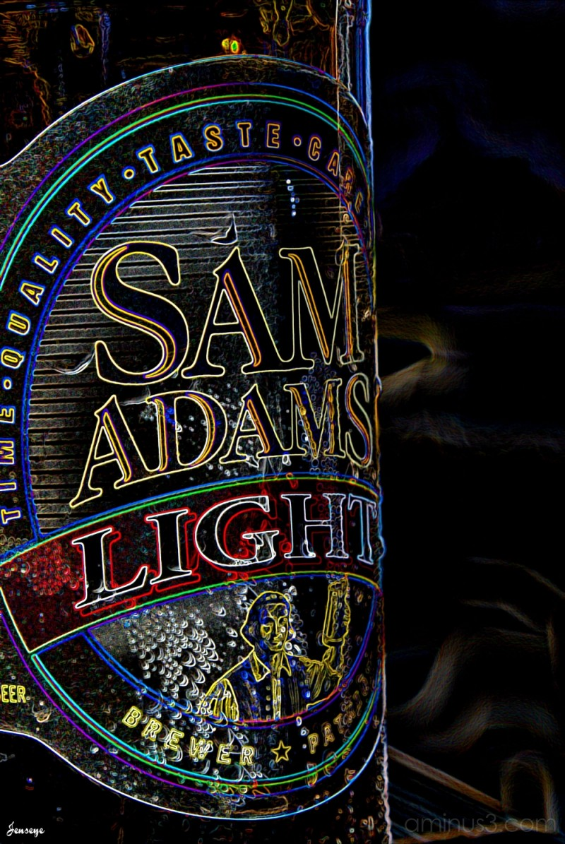 Neon Sam Adams Light Bottle