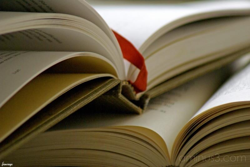Hardcover Books Ribbon Pagemarker