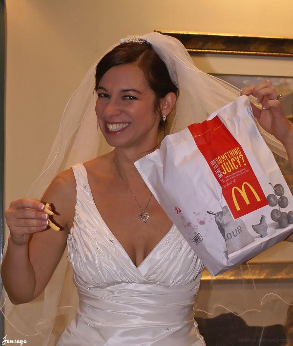Bride Pre Wedding McDonald's French Fries