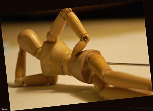Wooden Sculpture Attitude